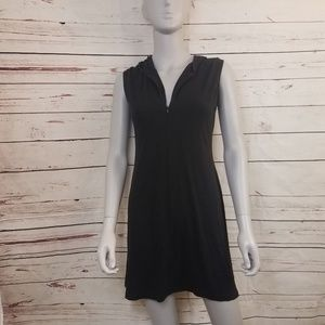 French Connection Black Sleeveless Hooded Dress